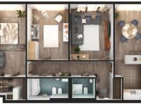 Планировка 3 комнатной квартиры: 140 фото лучших идей, современный дизайн, удачное сочетание по цвету и стилю
