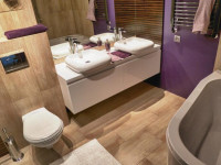 Ванная 5 кв. м.: создание грамотного и стильного оформления дизайна интерьера современной типовой ванной комнаты