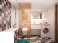 Ванная 8 кв. м. — фото красивого дизайна, уютной планировки, и функционального зонирования