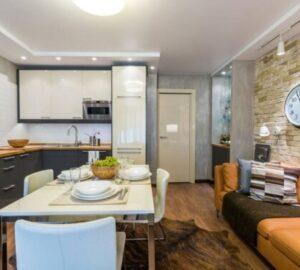 Кухня 15 кв. м. — варианты зонирования, дизайна и примеры оформления (90 фото)